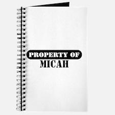 Property of Micah Journal