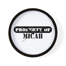 Property of Micah Wall Clock