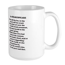 Shakespeare Sonnet One Mugs