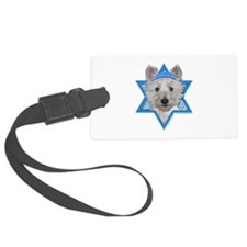 Hanukkah Star of David - Westie Luggage Tag