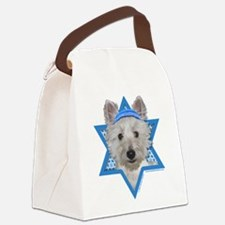 Hanukkah Star of David - Westie Canvas Lunch Bag