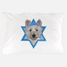 Hanukkah Star of David - Westie Pillow Case