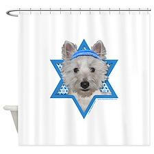Hanukkah Star of David - Westie Shower Curtain