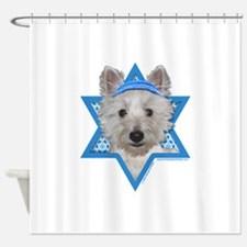 Hanukkah Star of David - Westie Shower Curtain