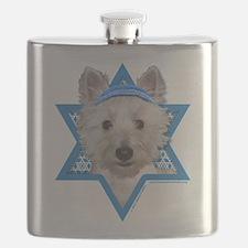 Hanukkah Star of David - Westie Flask
