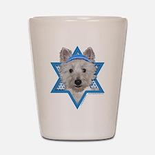 Hanukkah Star of David - Westie Shot Glass