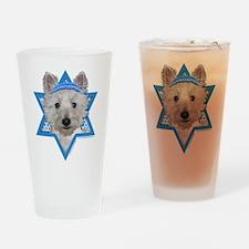 Hanukkah Star of David - Westie Drinking Glass