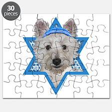 Hanukkah Star of David - Westie Puzzle