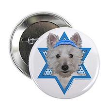 "Hanukkah Star of David - Westie 2.25"" Button"