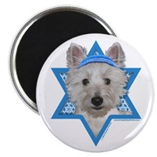 "Hanukkah Star of David - Westie 2.25"" Magnet (10 p"