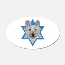 Hanukkah Star of David - Westie Wall Decal