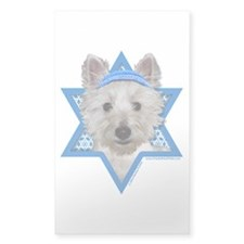 Hanukkah Star of David - Westie Decal