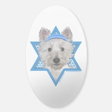 Hanukkah Star of David - Westie Sticker (Oval)
