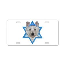 Hanukkah Star of David - Westie Aluminum License P