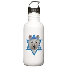 Hanukkah Star of David - Westie Water Bottle
