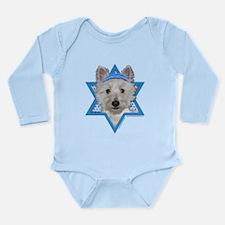 Hanukkah Star of David - Westie Long Sleeve Infant