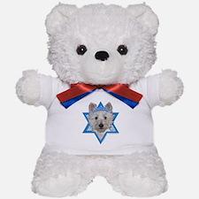 Hanukkah Star of David - Westie Teddy Bear