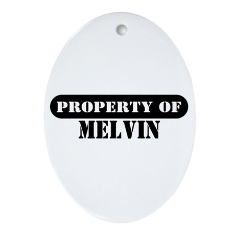 Property of Melvin Oval Ornament