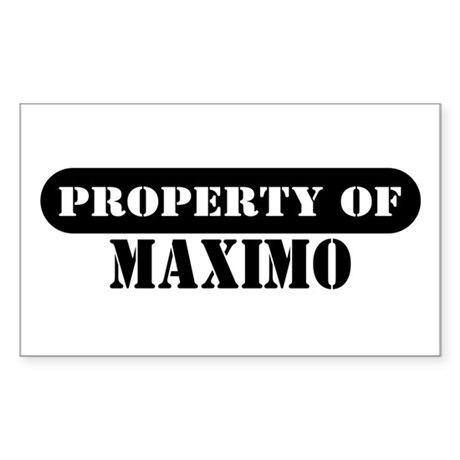 Property of Maximo Rectangle Sticker