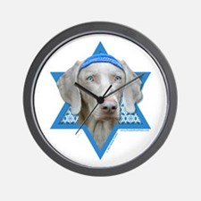 Hanukkah Star of David - Weimie Wall Clock