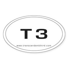 Oval T3 sticker
