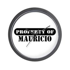 Property of Mauricio Wall Clock