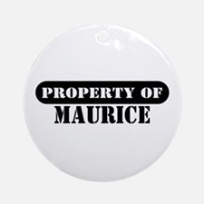 Property of Maurice Ornament (Round)