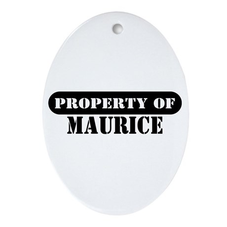 Property of Maurice Oval Ornament