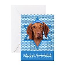 Hanukkah Star of David - Vizsla Greeting Card
