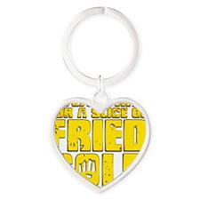 Fried Gold Heart Keychain