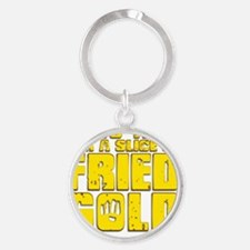 Fried Gold Round Keychain
