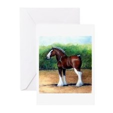 Clydesdale Draft Horse Greeting Cards