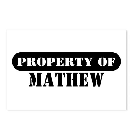 Property of Mathew Postcards (Package of 8)