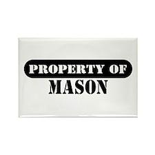 Property of Mason Rectangle Magnet
