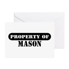 Property of Mason Greeting Cards (Pk of 10)