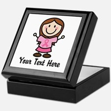 Personalized Breast Cancer Stick Figure Keepsake B