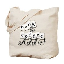 Book and Coffee Addict Tote Bag