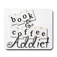 Book And Coffee Addict Mousepad