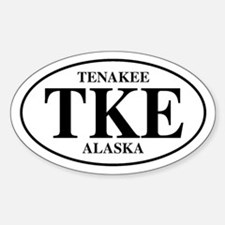 Tenakee Oval Decal