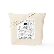 Virtual Workplace in a Bathroom Tote Bag