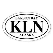 Larson Bay Oval Decal