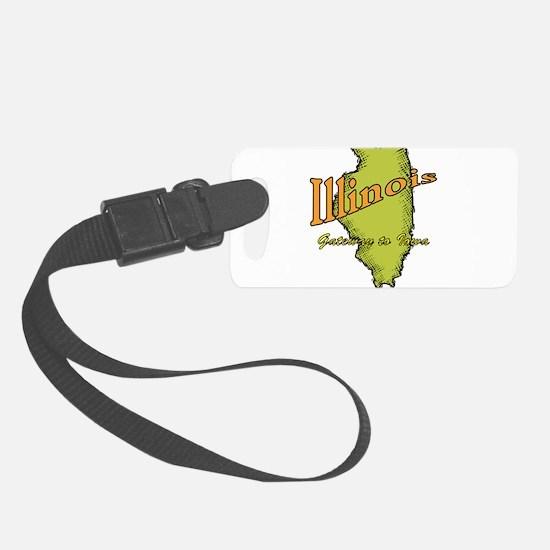 Illinois Funny Motto Luggage Tag
