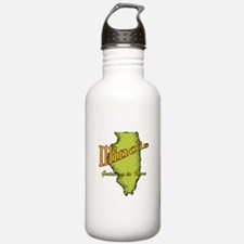 Illinois Funny Motto Water Bottle