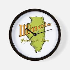 Illinois Funny Motto Wall Clock