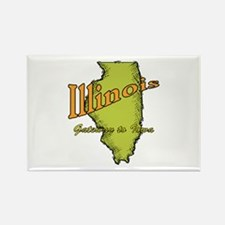 Illinois Funny Motto Rectangle Magnet