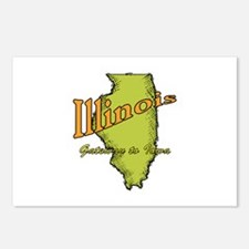Illinois Funny Motto Postcards (Package of 8)