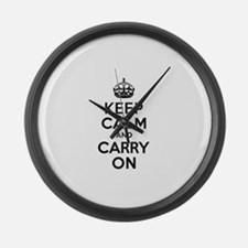 Keep Calm and Carry On Large Wall Clock