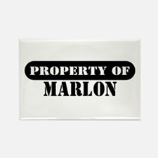Property of Marlon Rectangle Magnet