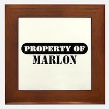 Property of Marlon Framed Tile