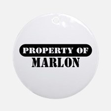Property of Marlon Ornament (Round)